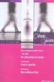 Cultures et societes science de l'homme n.2 ; les sens. une anthropologie du sensible - Intérieur - Format classique