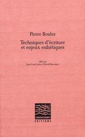 Pierre boulez : techniques d'écriture et enjeux esthétiques - Intérieur - Format classique