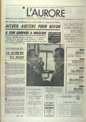 Aurore (L') N°8623 du 23/05/1972 - Couverture - Format classique
