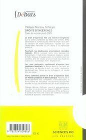 Droits d'ingérence ; dans un monde post-2001 - 4ème de couverture - Format classique