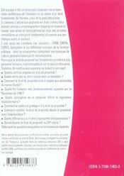 Histoire Du Droit De La Propriete - 4ème de couverture - Format classique