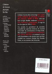 Annales Agro/Veto Physique & Chimie, Sup Spe Bcpst, Veto, Deug Sciences. Concours Agro & Veto (1995 - 4ème de couverture - Format classique