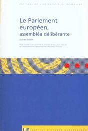 Le Parlement Europeen, Assemblee Deliberante - Intérieur - Format classique