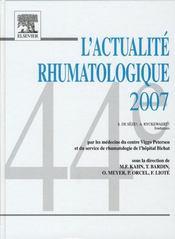 Actualité rhumatologique - Intérieur - Format classique