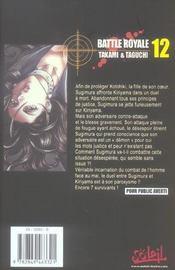 Battle royale t.12 - 4ème de couverture - Format classique