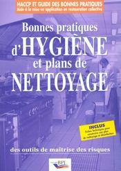Bonnes pratiques d'hygienes et plans de nettoyage - Intérieur - Format classique