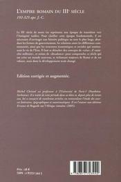 L'Empire Romain Du Iii Siecle - 4ème de couverture - Format classique