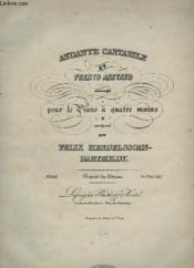 Andante Cantabile Et Presto Agitato - Piano A 4 Mains. - Couverture - Format classique