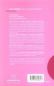 Agir pour ne pas mourir ! Act Up, les homosexuels et le sida - 4ème de couverture - Format classique