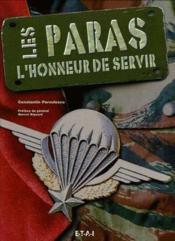 Les Paras, L'Honneur De Servir - Couverture - Format classique