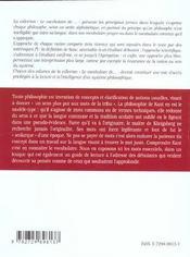 Emmanuel Kant - 4ème de couverture - Format classique