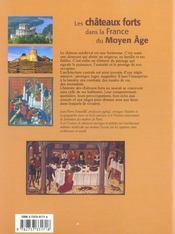 Les chateaux forts dans la france du moyen age - 4ème de couverture - Format classique