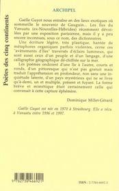 Archipel - 4ème de couverture - Format classique
