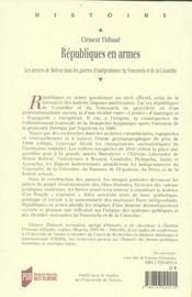 Republiques En Armes - 4ème de couverture - Format classique