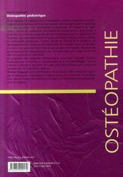 Ostéopathie pédiatrique - 4ème de couverture - Format classique