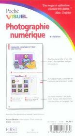 Poche visuel photographie numerique, 4e - 4ème de couverture - Format classique