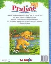 Praline Fait Du Bateau - 4ème de couverture - Format classique