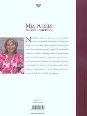 Mes Purees Salees Et Sucrees - 4ème de couverture - Format classique