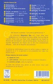 Mathematiques ; premiere s ; algebre ; analyse - 4ème de couverture - Format classique