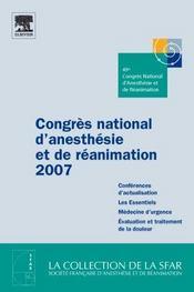 Congrès anesthésie et réanimation (édition 2007) - Intérieur - Format classique