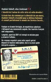 Langelot et les saboteurs - 4ème de couverture - Format classique