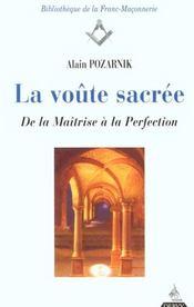 Voute Sacree (La) - Intérieur - Format classique
