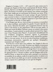 Diogène le chien - 4ème de couverture - Format classique