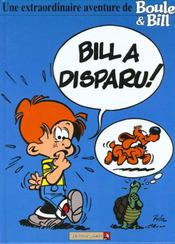 Boule & Bill t.1 ; Bill a disparu - Intérieur - Format classique