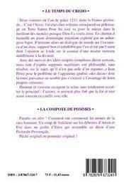 Le Temps Du Credo (La Compote De Pommes) - 4ème de couverture - Format classique