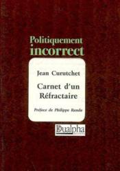 Carnet d'un refractère - Couverture - Format classique