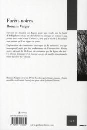 Forêts noires - 4ème de couverture - Format classique