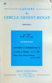 Cahiers Du Cercle Ernest Renan N°80 du 01/04/1973 - Couverture - Format classique