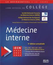 Vente  College national de medecine interne 3e ed  - College Francais