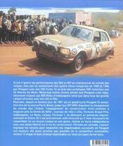 Peugeot Et Le Sport Automobile - 4ème de couverture - Format classique