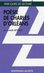 Poésie de Charles d'Orléans - Couverture - Format classique