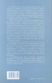 Un Parcours De Pretre-Ouvrier - 4ème de couverture - Format classique