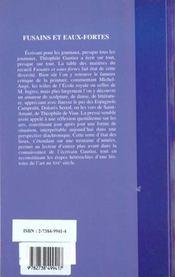 Fusains Et Eaux-Fortes - 4ème de couverture - Format classique