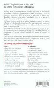 Hollywood boulevard ; les 20 acteurs qui font le cinema americain - 4ème de couverture - Format classique