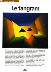 Petit Guide T.216 ; Le Tangram - Couverture - Format classique