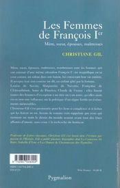 Les Femmes De Francois Ier - 4ème de couverture - Format classique