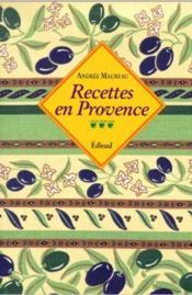 Recettes en Provence - Couverture - Format classique