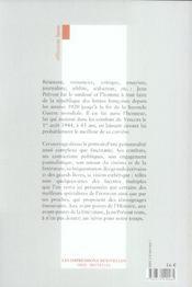 Jean Prevost Aux Avant-Postes - 4ème de couverture - Format classique