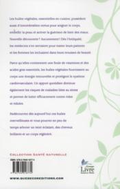 Les huiles végétales et leurs bienfaits - 4ème de couverture - Format classique