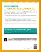 Les fiches outils du responsable commercial - 4ème de couverture - Format classique