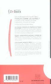 Français comme les autres ? enquête sur les citoyens d'origine maghrébine, africaine et turque - 4ème de couverture - Format classique