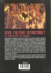 Vers L'Ultime Extinction ? La Biodiversite En Danger - 4ème de couverture - Format classique