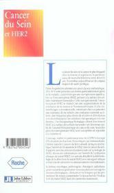 Cancer Du Sein Et Her2 - 4ème de couverture - Format classique