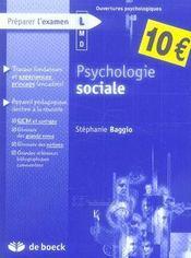 Psychologie sociale - Intérieur - Format classique