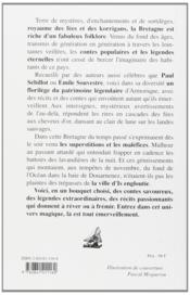 Légendes traditionnelles de Bretagne ; coutumes, croyances, superstitions - 4ème de couverture - Format classique