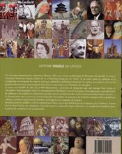 Histoire visuelle du Monde - 4ème de couverture - Format classique